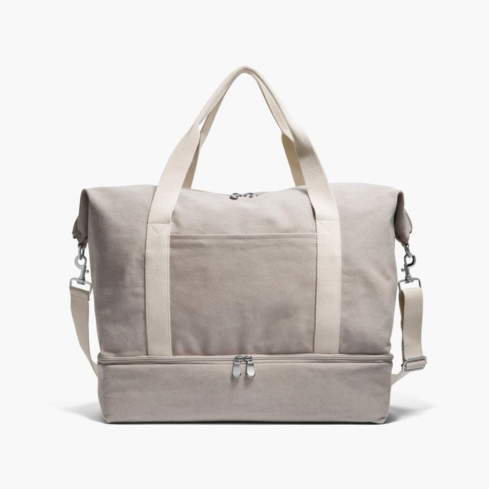 Front - The Catalina Deluxe - Washed Canvas - Dove Grey - Weekender - Lo & Sons