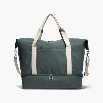 Front - The Catalina Deluxe - Washed Canvas - Forest Green - Weekender - Lo & Sons