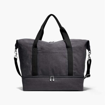 Front - The Catalina Deluxe - Washed Canvas - Midnight Ash - Weekender - Lo & Sons