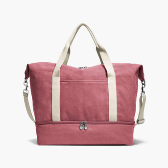 Front - The Catalina Deluxe - Washed Canvas - Rose - Weekender - Lo & Sons