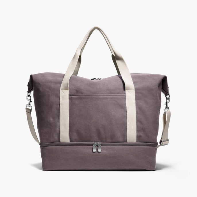 Front - The Catalina Deluxe - Washed Canvas - Thistle - Weekender - Lo & Sons