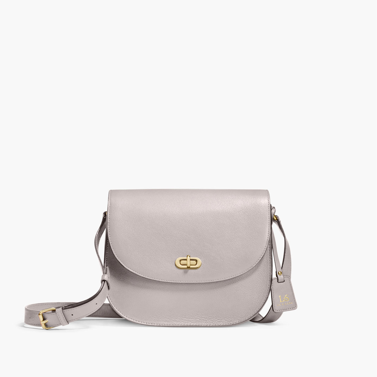 Front - The Claremont - Full Grain Leather - Light Grey - Crossbody - Lo & Sons