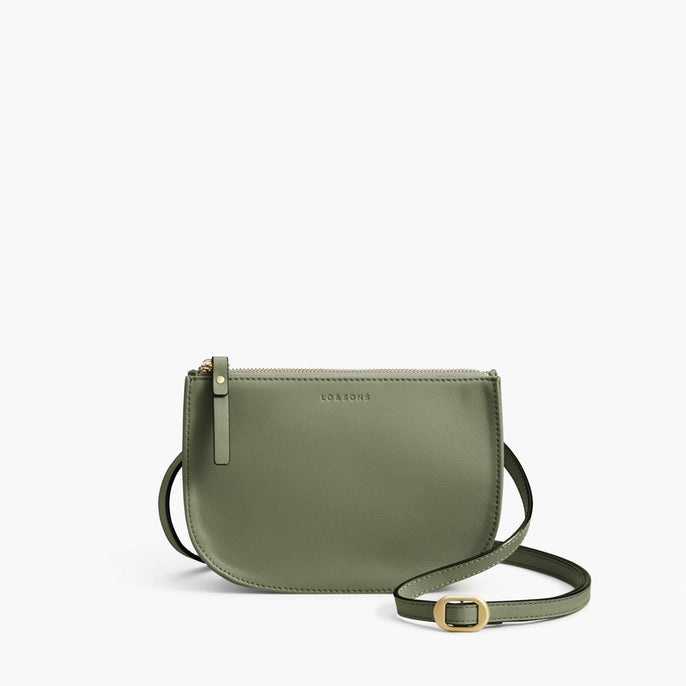 Front Crossbody - Waverley 2 - Nappa Leather - Sage Green / Gold / Camel - Crossbody Bag - Lo & Sons