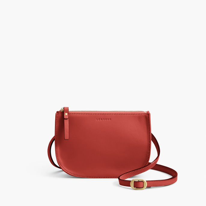 Front Crossbody - Waverley 2 - Nappa Leather - Santa Fe Red / Gold / Camel - Crossbody Bag - Lo & Sons