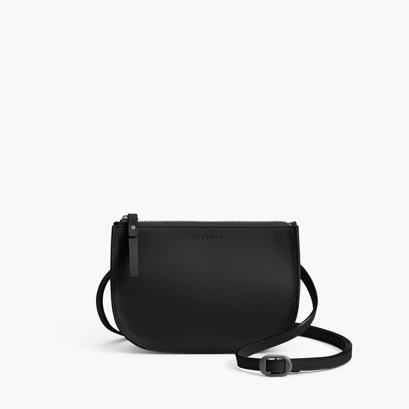 Front Crossbody - The Waverley 2 - Nappa Leather - Black / Gunmetal / Grey - Crossbody - Lo & Sons