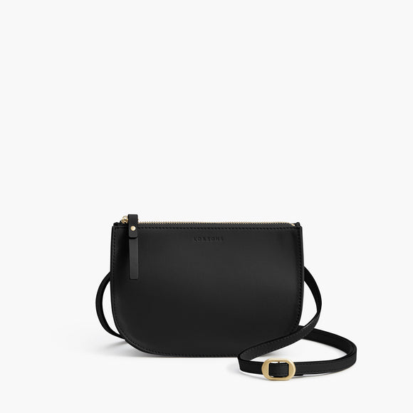 Front Crossbody - The Waverley 2 - Nappa Leather - Black / Gold / Grey - Crossbody - Lo & Sons