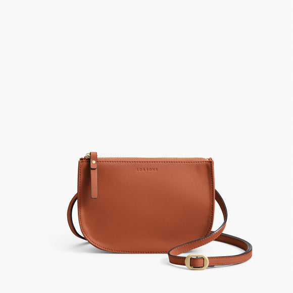 Front Crossbody - The Waverley 2 - Nappa Leather - Sienna / Gold / Camel - Crossbody - Lo & Sons