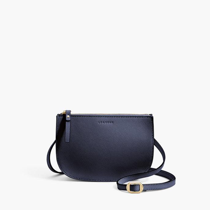 Front Crossbody - Waverley 2 - Saffiano Leather - Deep Navy / Gold / Camel - Crossbody Bag - Lo & Sons