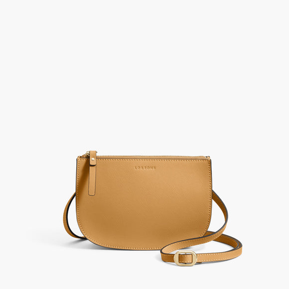 Front Crossbody - The Waverley 2 - Saffiano Leather - Sand / Gold / Camel - Crossbody - Lo & Sons