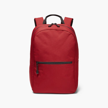 Front - The Hanover - 600D Recycled Poly - Crimson Red - Backpack - Lo & Sons