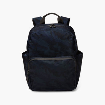 Front - The Hanover Deluxe - 600D Recycled Poly - Navy Camo - Backpack - Lo & Sons