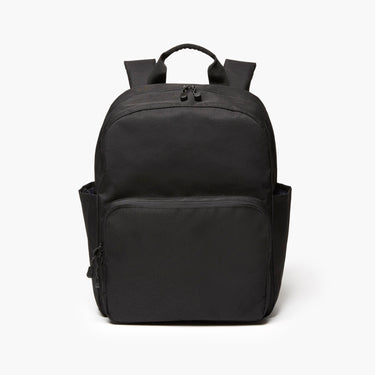 Front - The Hanover Deluxe - 600D Recycled Poly - Onyx - Backpack - Lo & Sons