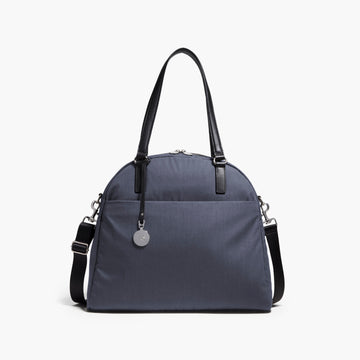 Front - The O.G. and O.M.G. - Cotton Poly Blend - Heather Slate Blue / Silver / Grey - Shoulder Bag - Lo & Sons