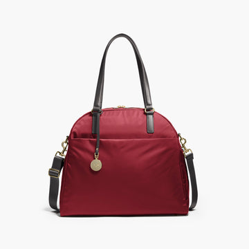 Front - The O.G. and O.M.G. - Nylon - Burgundy / Gold / Camel - Shoulder Bag - Lo & Sons