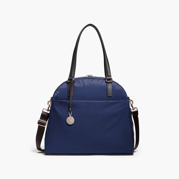 Front - The O.G. and O.M.G. - Nylon - Navy / Gold / Lavender - Shoulder Bag - Lo & Sons