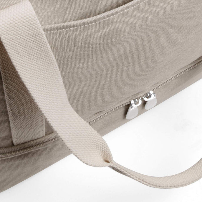 Front Pocket - The Catalina Deluxe Tote - Washed Canvas - Dove Grey - Tote - Lo & Sons