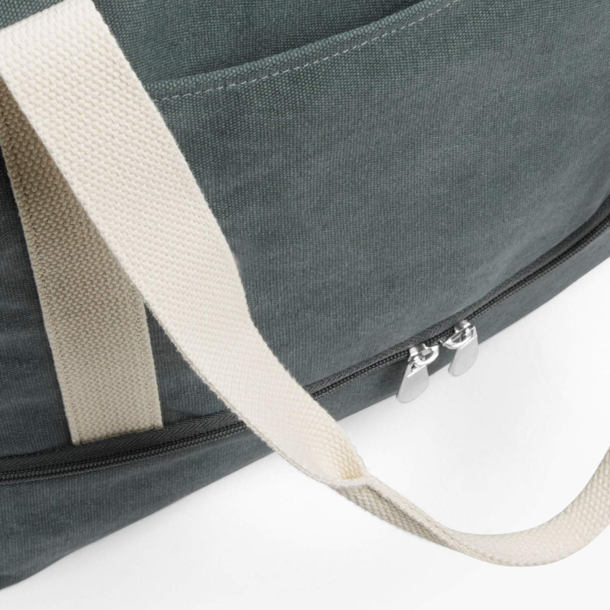 Front Pocket - The Catalina Deluxe Tote - Washed Canvas - Forest Green - Tote - Lo & Sons
