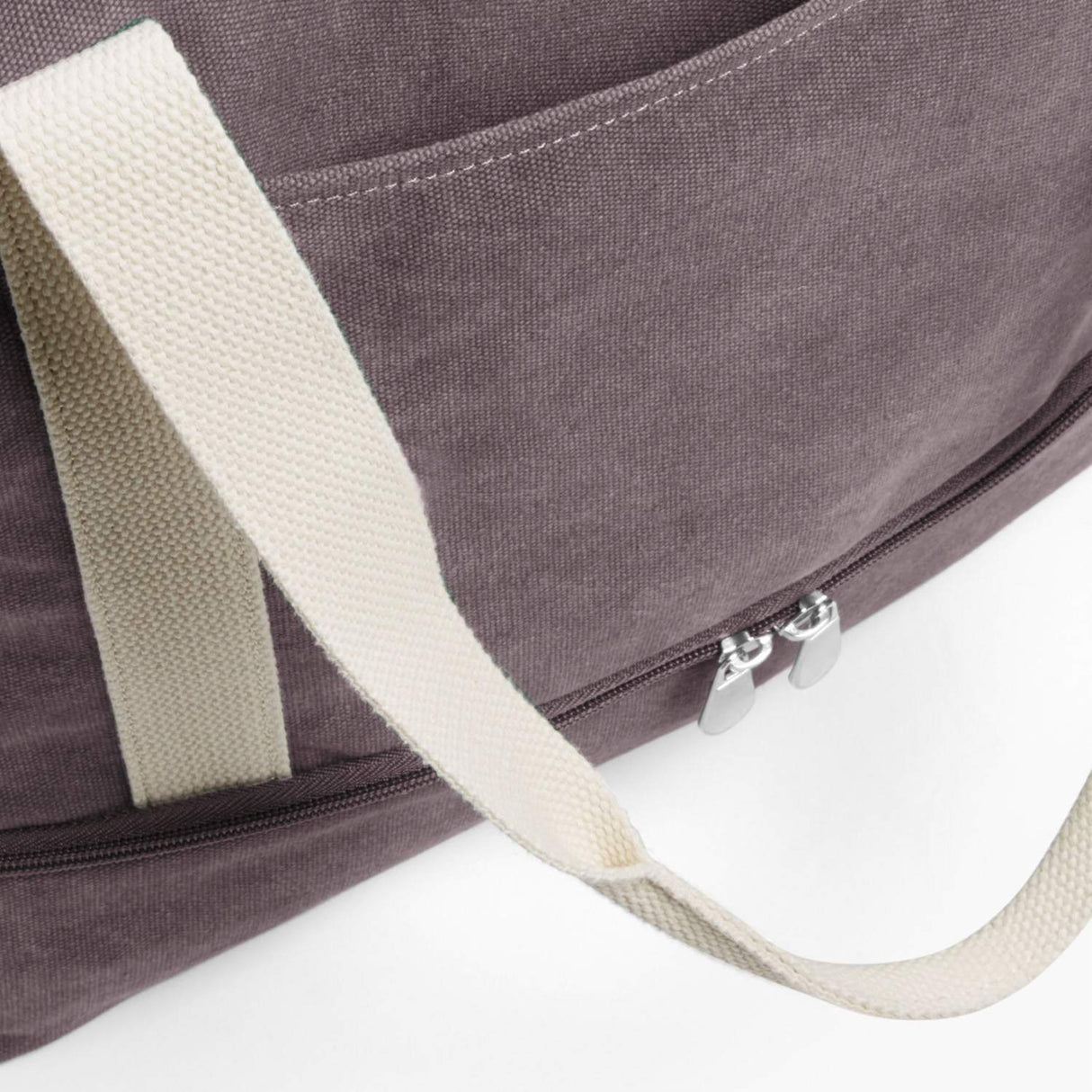 Front Pocket - The Catalina Deluxe Tote - Washed Canvas - Thistle - Tote - Lo & Sons