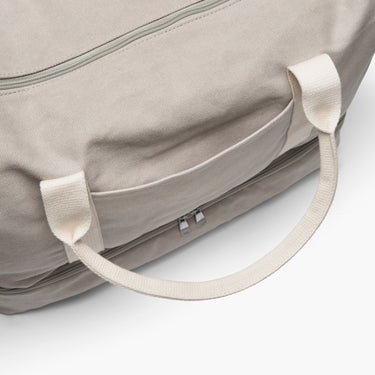 Front Pocket Close Up - The Catalina - Washed Canvas - Dove Grey - Weekender - Lo & Sons