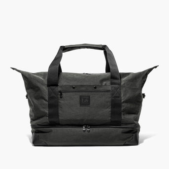 Front Sides Unsnapped - The Rhodes - Waxed Twill - Charcoal - Weekender - Lo & Sons
