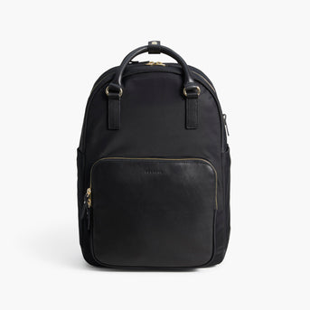 Front Tote - The Rowledge - Nylon - Black / Gold / Lavender - Backpack - Lo & Sons