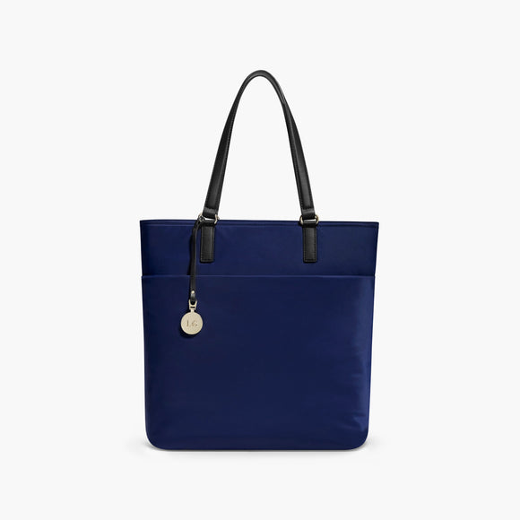 Front - The T.T. - Nylon - Navy / Gold / Lavender - Tote - Lo & Sons