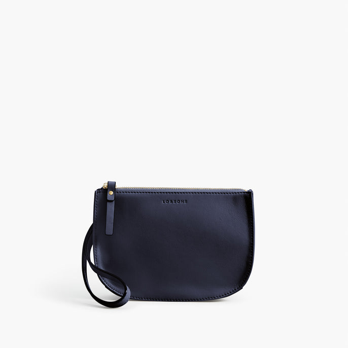 Front Wristlet - Waverley 2 - Nappa Leather - Deep Navy / Gold / Camel - Crossbody Bag - Lo & Sons