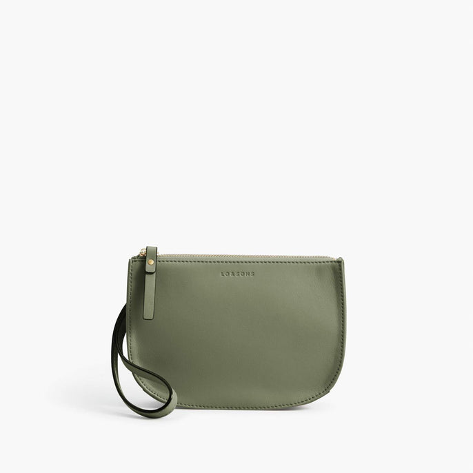 Front Wristlet - Waverley 2 - Nappa Leather - Sage Green / Gold / Camel - Crossbody Bag - Lo & Sons