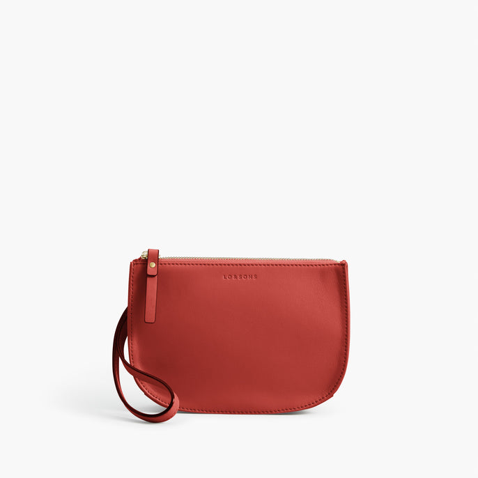 Wristlet - Waverley 2 - Nappa Leather - Santa Fe Red / Gold / Camel - Crossbody Bag - Lo & Sons