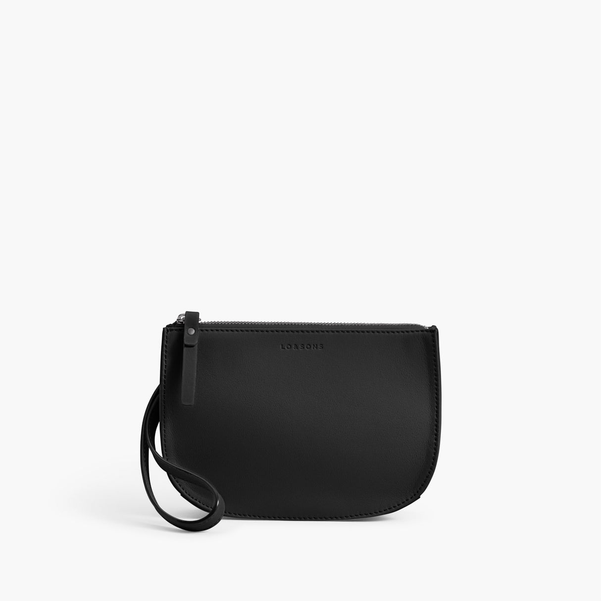 Front Wristlet - The Waverley 2 - Nappa Leather - Black / Gunmetal / Grey - Crossbody - Lo & Sons