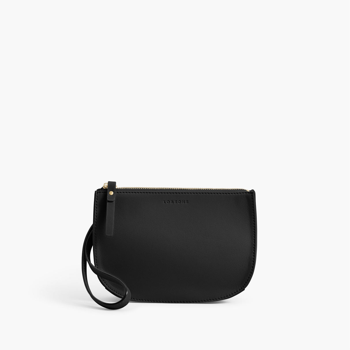 Front Wristlet - The Waverley 2 - Nappa Leather - Black / Gold / Grey - Crossbody - Lo & Sons