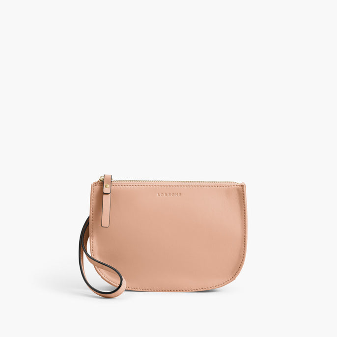 Front Wristlet - The Waverley 2 - Nappa Leather - Rose Quartz / Gold / Camel - Crossbody - Lo & Sons