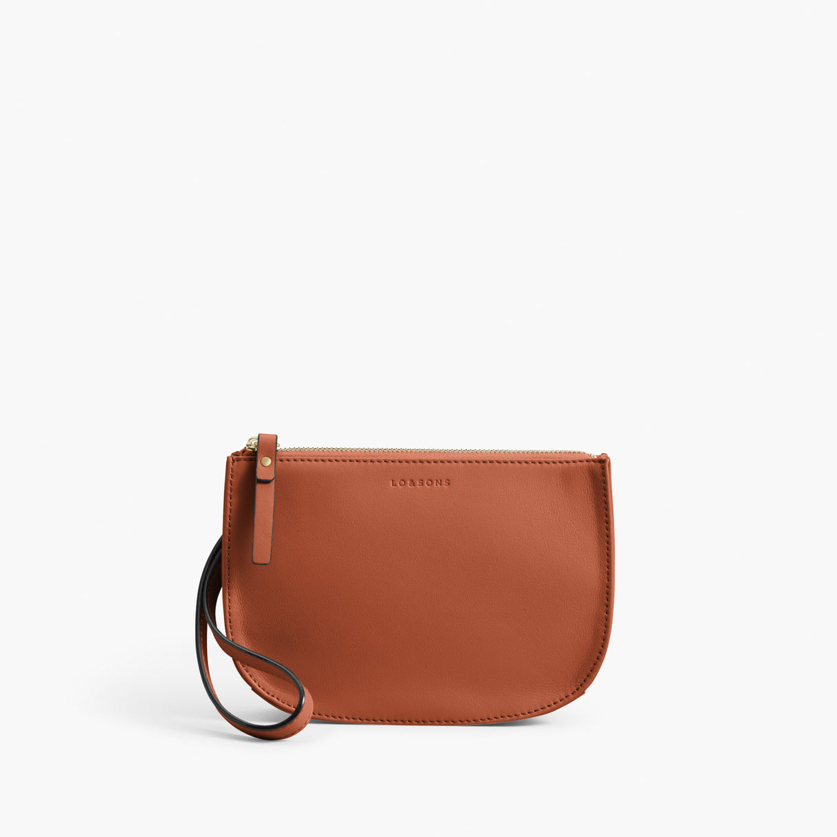 Front Wristlet - The Waverley 2 - Nappa Leather - Sienna / Gold / Camel - Crossbody - Lo & Sons