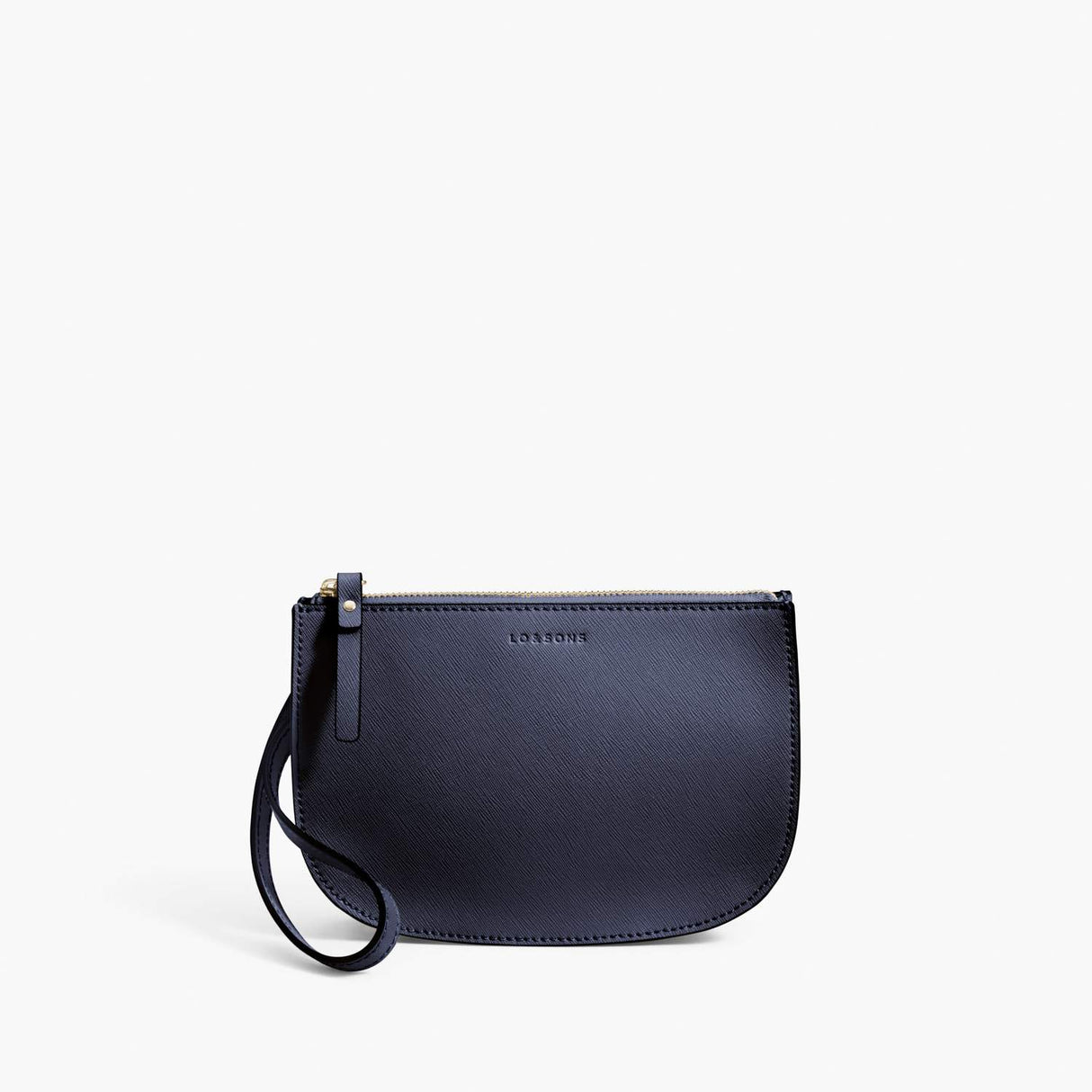 Front Wristlet - Waverley 2 - Saffiano Leather - Deep Navy / Gold / Camel - Crossbody Bag - Lo & Sons