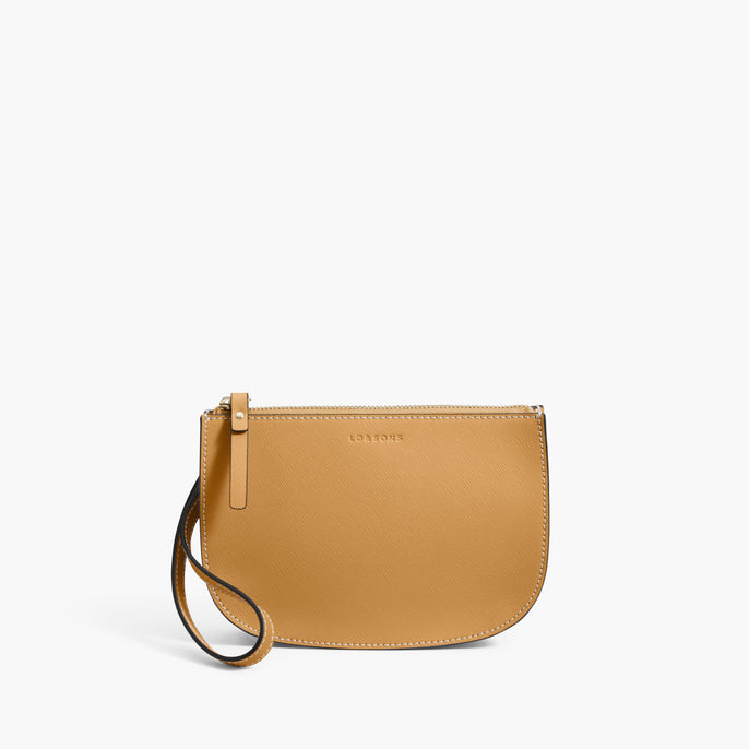 Front Wristlet - The Waverley 2 - Saffiano Leather - Sand / Gold / Camel - Crossbody - Lo & Sons