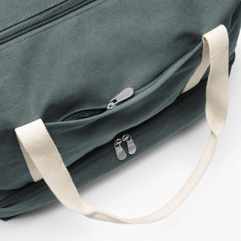 Front Zip Pocket - The Catalina Deluxe - Washed Canvas - Forest Green - Weekender - Lo & Sons
