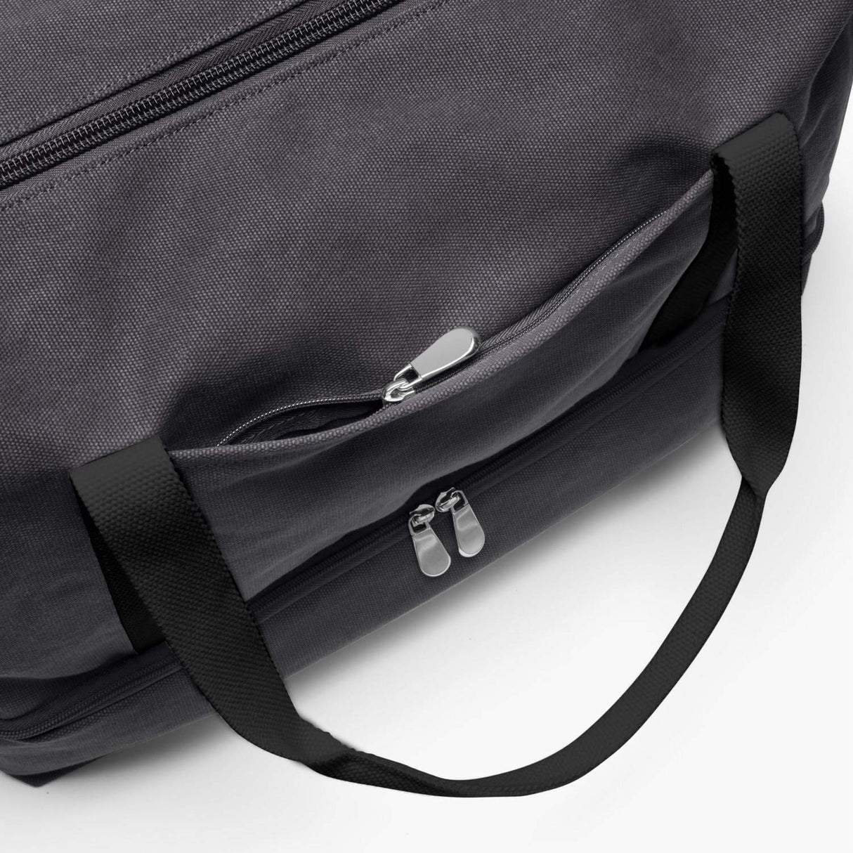 Front Zip Pocket - The Catalina Deluxe - Washed Canvas - Midnight Ash - Weekender - Lo & Sons