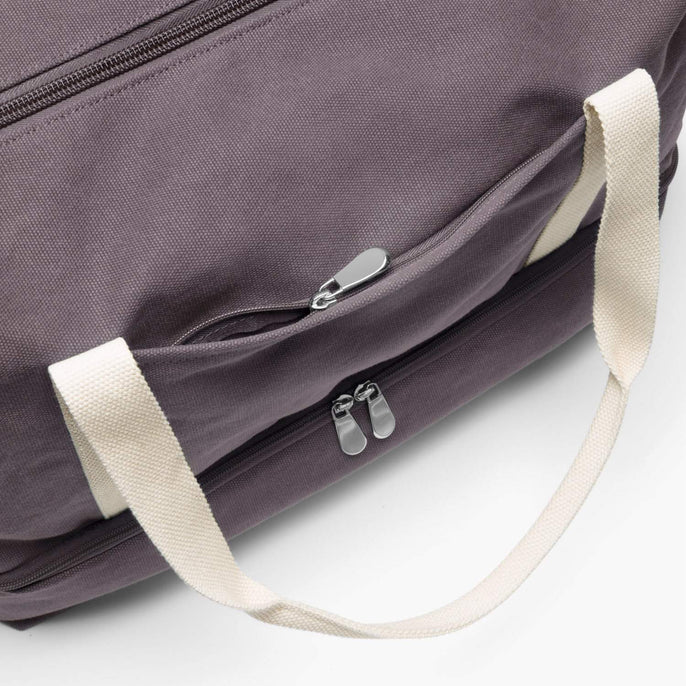 Front Zip Pocket - The Catalina Deluxe - Washed Canvas - Thistle - Weekender - Lo & Sons