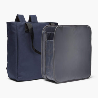 Insert And Exterior - Edgemont - 600D Recycled Poly - Navy - Backpack - Lo & Sons
