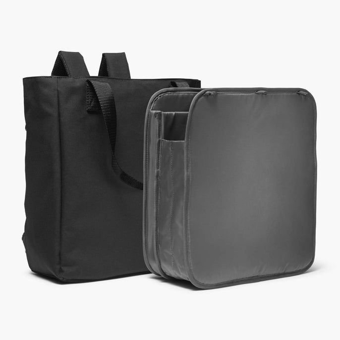 Insert And Exterior - Edgemont - 600D Recycled Poly - Onyx - Backpack - Lo & Sons