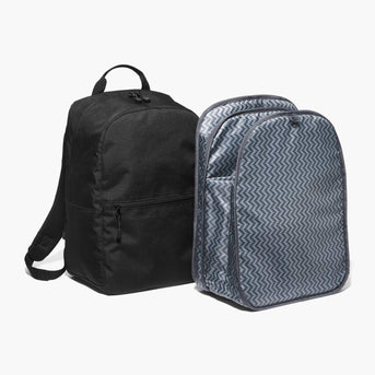 Insert And Exterior - The Hanover - 600D Recycled Poly - Onyx - Backpack - Lo & Sons
