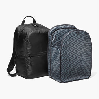 Insert And Exterior - The Hanover - Ripstop Recycled Poly - Black - Backpack - Lo & Sons