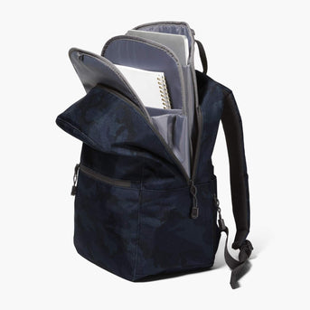 Insert And Exterior Packed - The Hanover Deluxe - 600D Recycled Poly - Navy Camo - Backpack - Lo & Sons