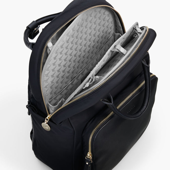 Insert Buttons - The Rowledge - Nylon - Black / Gold / Grey - Backpack - Lo & Sons