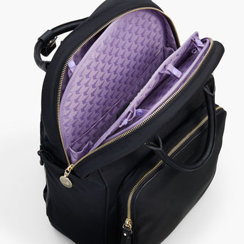 Insert Buttons - The Rowledge - Nylon - Black / Gold / Lavender - Backpack - Lo & Sons