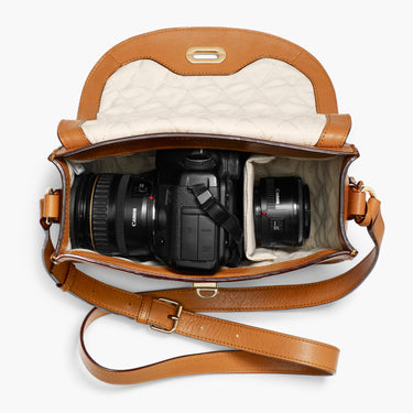 Interior DSLR - The Claremont - Full Grain Leather - Sienna - Crossbody - Lo & Sons