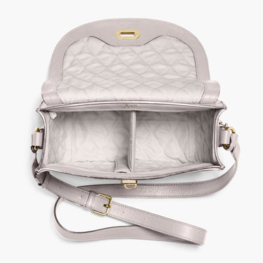 Interior Empty - The Claremont - Full Grain Leather - Light Grey - Crossbody - Lo & Sons