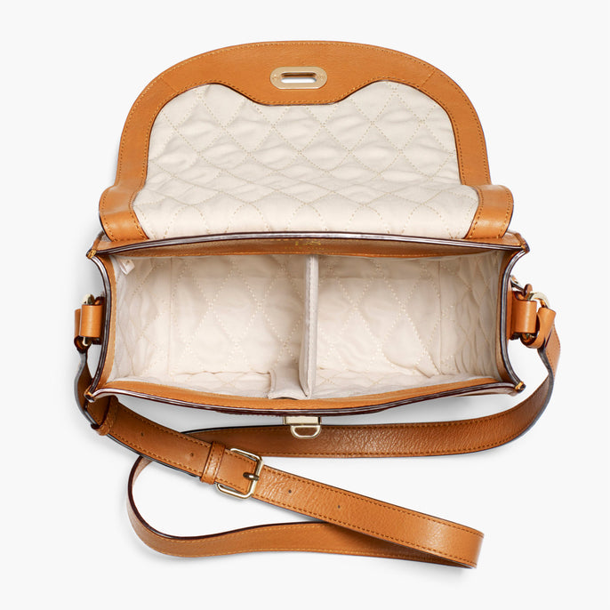 Interior Empty - The Claremont - Full Grain Leather - Sienna - Crossbody - Lo & Sons