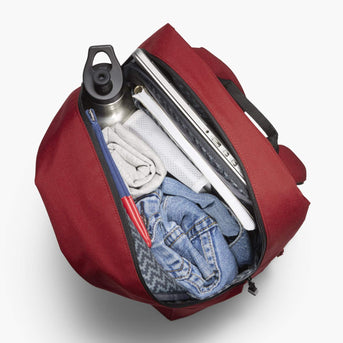 Interior Packed - The Hanover - 600D Recycled Poly - Crimson Red - Backpack - Lo & Sons