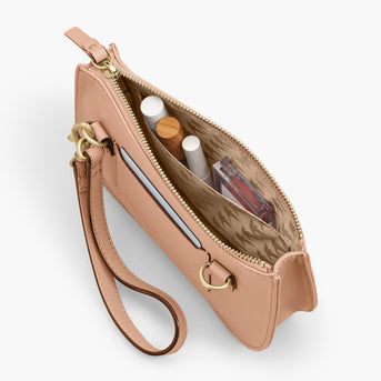 Interior Pocket  - The Waverley 2 - Nappa Leather - Rose Quartz / Gold / Camel - Crossbody - Lo & Sons
